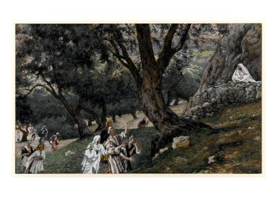 Jesus Went Out into a Desert Place, Illustration for 'The Life of Christ', C.1884-96-James Tissot-Giclee Print