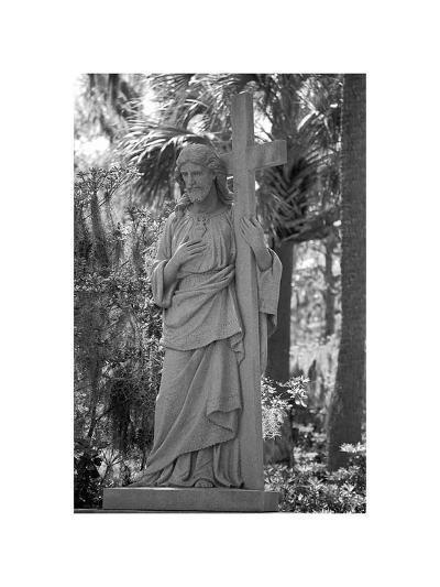 Jesus With Cross-Jane Neville-Art Print