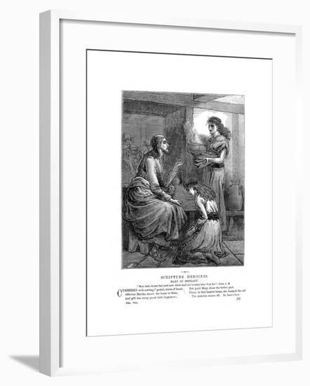 Jesus with Mary and Martha, C1870--Framed Giclee Print