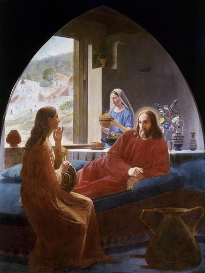 Jesus with Mary and Martha-Christen Dalsgaard-Giclee Print