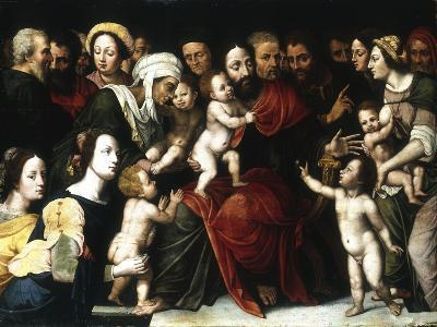 Jesus with the Little Children, C1559-1589-Vincent Sellaer-Giclee Print