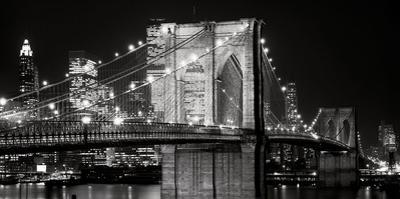 Brooklyn Bridge at Night by Jet Lowe
