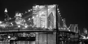Brooklyn Bridge at Night by Jet Lowe