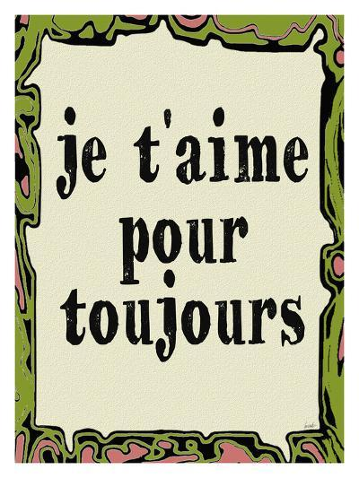 Jetaime Pour Toujours-Lisa Weedn-Giclee Print