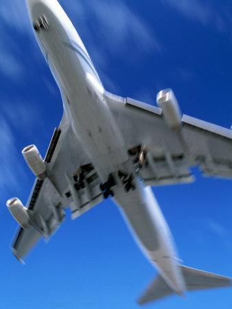 Jetliner Landing, Los Angeles, CA-Gary Conner-Photographic Print