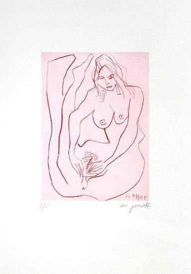 Jetset 3 Erotische Frau-A^ R^ Penck-Limited Edition