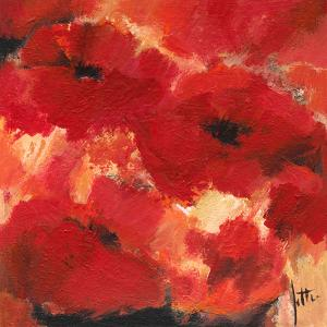 Abstract Flowers I by Jettie Roseboom