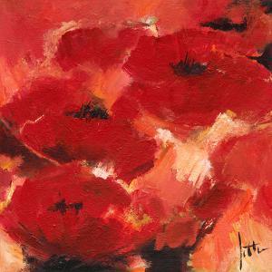 Abstract Flowers II by Jettie Roseboom