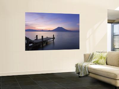 Jetty, Lake Atitlan and Volcano San Pedro, Dawn, Guatemala-Michele Falzone-Wall Mural