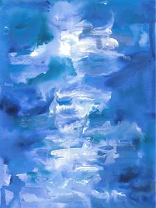 Abstract Blue Ocean Waves by Jetty Printables