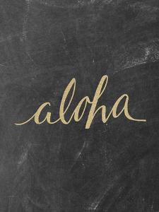 Aloha Gold Chalkboard by Jetty Printables