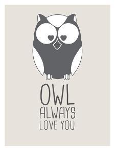 Beige Owl Always Love You by Jetty Printables