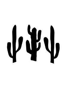 Black Cactus by Jetty Printables