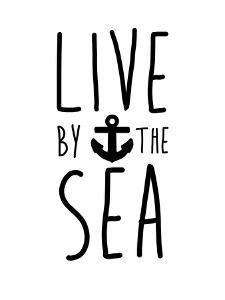 Black Live By The Sea by Jetty Printables