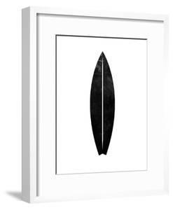 Black White Faded Surfboard by Jetty Printables