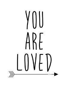 Black You Are Loved by Jetty Printables