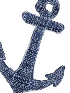 Blue Tribal Anchor Wall Art by Jetty Printables