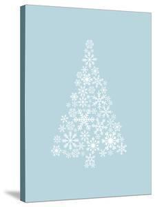 Blue White Snowflake Tree by Jetty Printables