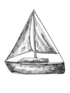 Bw Sailboat 18X24 01 by Jetty Printables