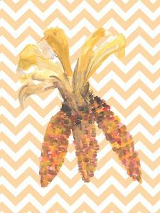 Chevron Corn Autumn Print by Jetty Printables