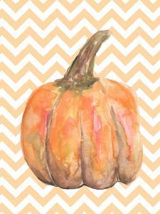 Chevron Pumpkin Autumn Print by Jetty Printables