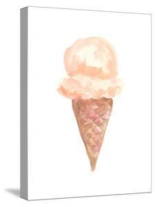 Coffee Watercolor Ice Cream Cone by Jetty Printables