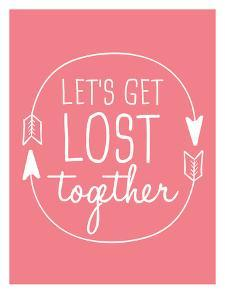 Coral White Let's Get Lost by Jetty Printables