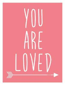 Coral You Are Loved by Jetty Printables
