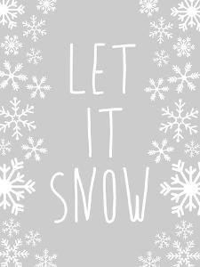 Fray Let It Snow Winter Print by Jetty Printables