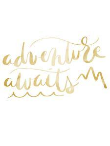 Gold Adventure Awaits Typography by Jetty Printables