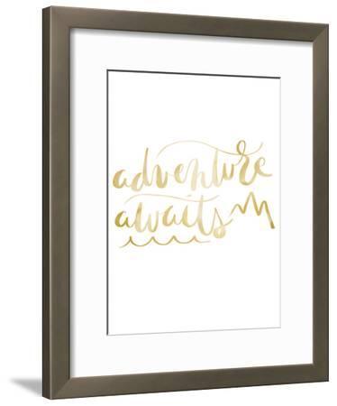 Gold Adventure Awaits Typography