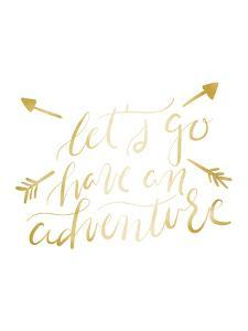 Gold Adventure Typography by Jetty Printables