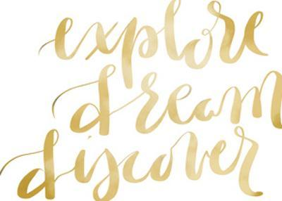 Gold Explore Dream Discover Typography