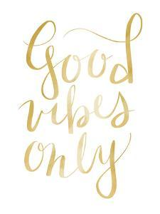 Gold Good Vibes Typography by Jetty Printables