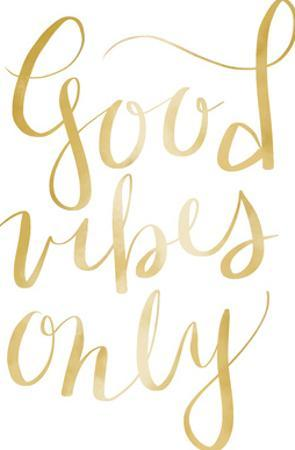 Gold Good Vibes Typography