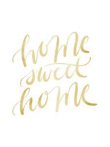 Gold Home Sweet Home Typography by Jetty Printables