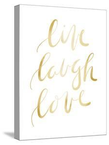Gold Live Laugh Love Typography by Jetty Printables