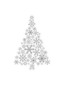 Gray Snowflake Tree by Jetty Printables