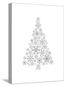 Gray Snowflake Tree by Jetty Printables