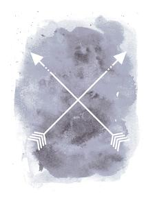 Gray Watercolor Arrow by Jetty Printables