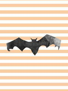 Halloween Striped Bat by Jetty Printables