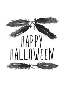 Happy Halloween Feather Art by Jetty Printables