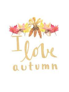I Love Autumn by Jetty Printables