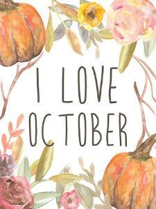 I Love October by Jetty Printables
