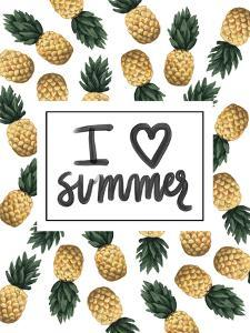 I Love Summer Pineapple Art by Jetty Printables