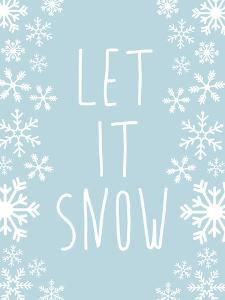 Light Blue Let It Snow by Jetty Printables