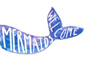 Mermaids Welcome Sign by Jetty Printables