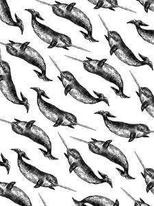 Narwhal Pattern by Jetty Printables