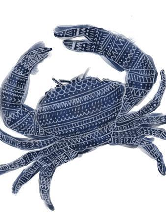 Navy Blue Tribal Crab