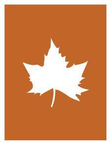 Orange White Leaf by Jetty Printables